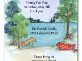 Lake Party Invitations Picnic by the Lake Party Invitations by Invitation