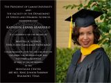 Lamar University Graduation Invitations Invitation Graduation Templates