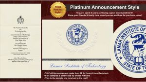 Lamar University Graduation Invitations Lamar Institute Of Technology Graduation Announcements