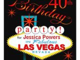 Las Vegas Birthday Party Invitations Las Vegas 40th Birthday Party 5 25×5 25 Square Paper