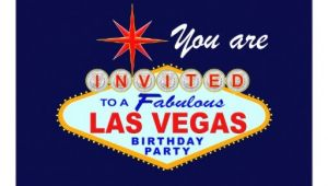 Las Vegas Birthday Party Invitations Las Vegas Birthday Party Invitation Zazzle