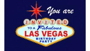 Las Vegas Birthday Party Invitations Las Vegas Birthday Party Invitation Zazzle