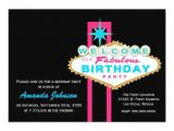Las Vegas Birthday Party Invitations Las Vegas Sign Birthday Party Invitation Zazzle