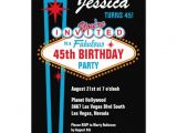 Las Vegas Birthday Party Invitations Personalized Las Vegas Party Invitations