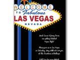 Las Vegas themed Birthday Invitations Vegas Party Invitations