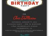 Las Vegas themed Birthday Party Invitations 17 Best Ideas About Las Vegas Party On Pinterest