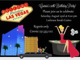 Las Vegas themed Birthday Party Invitations Casino Birthday Invitation Adult Birthday Party