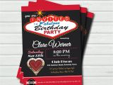 Las Vegas themed Birthday Party Invitations Casino Birthday Invitation for Woman Las by