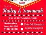 Las Vegas themed Birthday Party Invitations Casino theme Party Las Vegas Sweet 16 Party Invitation Retro