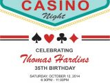 Las Vegas themed Birthday Party Invitations Las Vegas Birthday Invitation Adult Birthday by