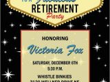 Las Vegas themed Birthday Party Invitations Las Vegas Retirement Invitation • Casino theme by