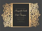 Laser Cut Wedding Invitation Template Floral Laser Cut Wedding Invitation 5×7 Gate Fold Card