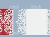 Laser Cut Wedding Invitation Templates Laser Cut Wedding Invitation Card Template Vector Stock