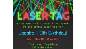 Laser Tag Birthday Invitation Template Neon Words Laser Tag Birthday Party Invitations Zazzle Com