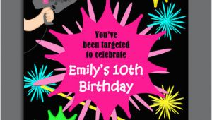 Laser Tag Birthday Party Invitation Template Free Laser Tag Birthday Invitations Free Free Invitation