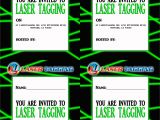 Laser Tag Party Invitations Free 40th Birthday Ideas Free Laser Tag Birthday Invitation
