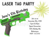 Laser Tag Party Invitations Free Free Printable Laser Tag Birthday Party Invitations