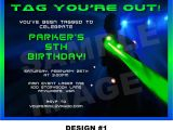 Laser Tag Party Invitations Free Laser Tag Invitation Laser Tag Invite Party Printable