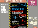 Laser Tag Party Invitations Free Laser Tag Invitation with Free Thank You Card Laser Tag