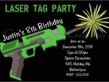 Laser Tag Party Invites Free 9 Best Images Of Laser Tag Invitations Free Printable