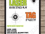 Laser Tag Party Invites Free Free Printable Laser Tag Birthday Party Invitations