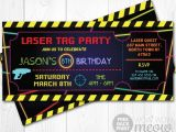 Laser Tag Party Invites Free Laser Tag Invitations Ticket Birthday Party Let 39 S Glow