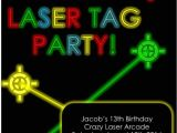 Laser Tag Party Invites Free Laser Tag Party Invitation Editable Partygamesplus