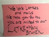Latke Party Invitation Latke Mary 2015 Invitation On Vimeo