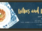 Latke Party Invitation Religious Free Online Invitations