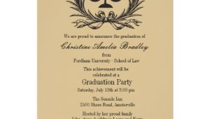 "Law School Graduation Party Invitations Templates Justice Wreath Law School Graduation Invitation 5"" X 7"