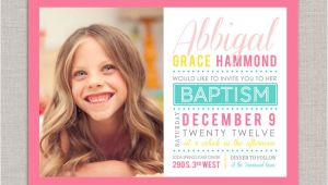 Lds Baptism Invite Lds Baptism Invitation Abbigal