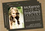 Lds Baptism Invite Wording Lds Baptism Announcement Invitation