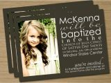 Lds Baptism Invite Wording Lds Baptism Announcement Invitation