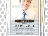 Lds Boy Baptism Invitations Lds Baptism Invitation Boy Invite Digital by