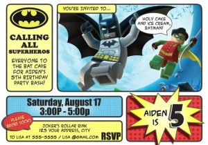 Lego Batman Party Invitations Free Printable Batman Invitations Lego Batman and Robin Invitation