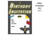 Lego Batman Party Invitations Free Printable Lego Batman Invitation Magical Printable