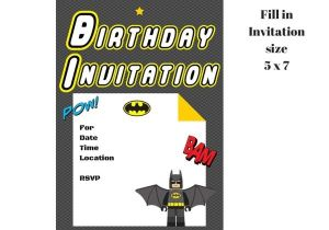 Lego Batman Party Invitations Free Printable Lego Batman Invitation Magical Printable