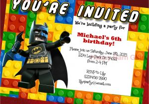Lego Batman Party Invitations Free Printable Lego Birthday Invitation Lego Movie Lego Batman by