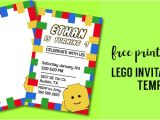 Lego Birthday Party Invitation Free Template Free Printable Lego Birthday Party Invitation Template