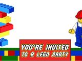 Lego Birthday Party Invitation Free Template Free Printable Lego Invitation Templates