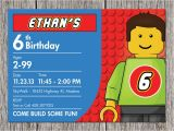Lego Birthday Party Invitation Free Template Lego Birthday Party Invitation Ideas Bagvania Free