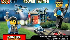 Lego City Birthday Invitation Template Lego City Birthday Party Invitation Invite Studioinvite