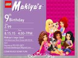 Lego Friends Party Invitations Lego Friends Birthday Invitation by Desidesigns7 On Etsy