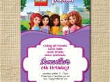 Lego Friends Party Invitations Lego Friends Birthday Invitation Lego Birthday by