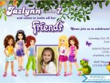 Lego Friends Party Invitations Lego Friends Birthday Invitation
