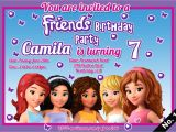 Lego Friends Party Invitations Lego Friends Birthday Invitation Www Imgkid Com the