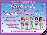 Lego Friends Party Invitations Lego Friends Birthday Invitations Digital Jpeg File Only
