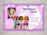 Lego Friends Party Invitations Lego Friends Birthday Invitations Printable