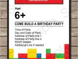 Lego Party Invitations Free Online 6 Best Images Of Lego Printable Invitation Templates