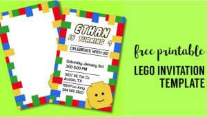 Lego Party Invitations Free Online Free Printable Lego Birthday Party Invitation Template